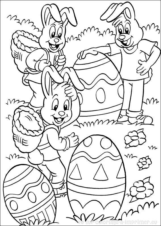 91 dessins de coloriage p ques cp imprimer - Dessins paques ...
