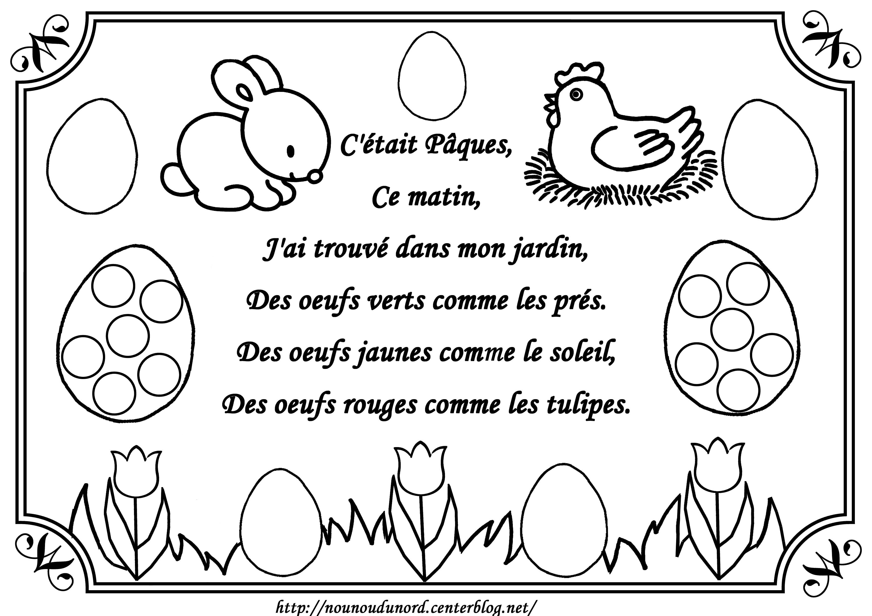100 dessins de coloriage p ques gratuit imprimer - Coloriage paques maternelle ...