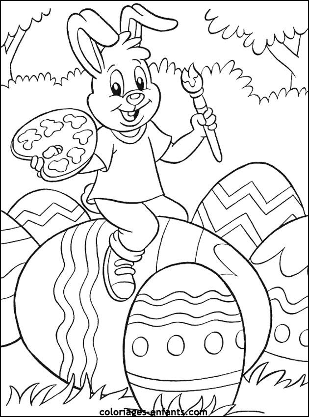 97 dessins de coloriage p ques maternelle imprimer - Coloriage paques maternelle ...