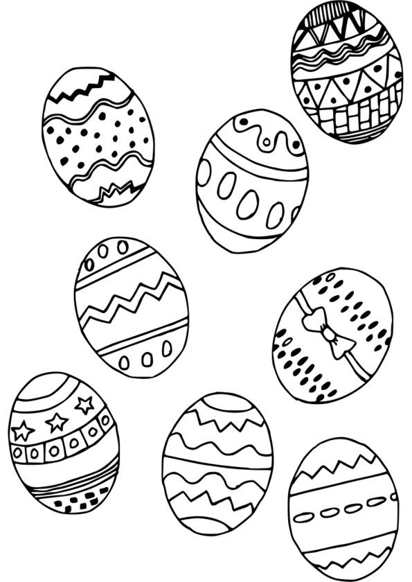 coloriage de paques lapin a imprimer