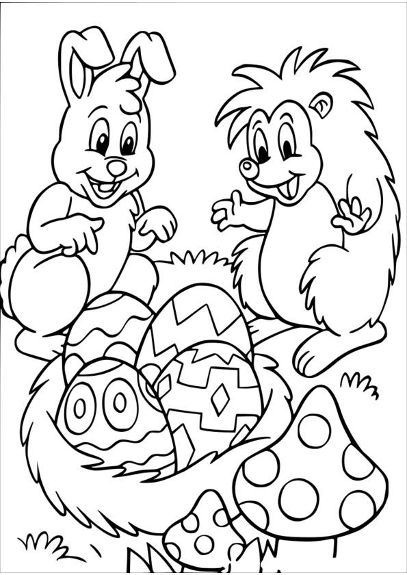 dessin à colorier mandala paques à imprimer