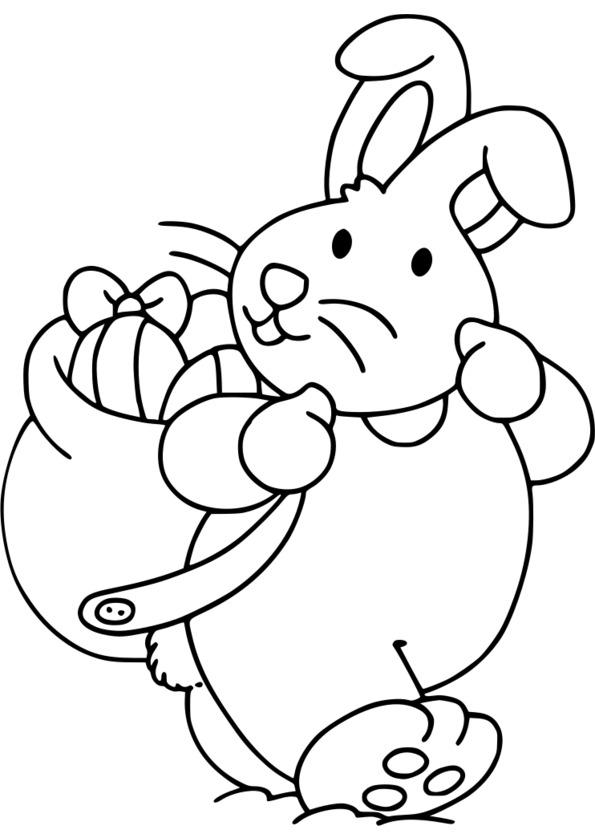 dessin à colorier d'oeuf de paques en ligne