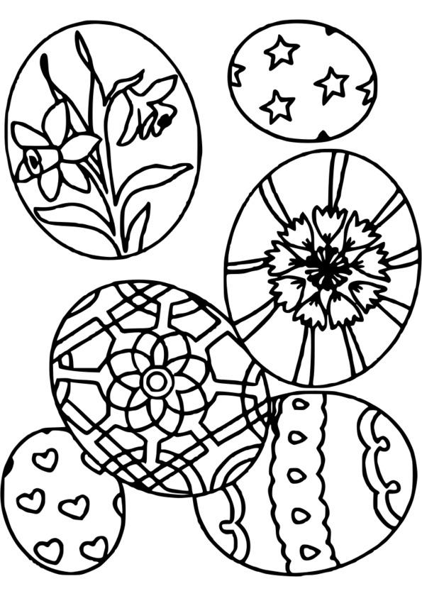 coloriage à dessiner paques gs