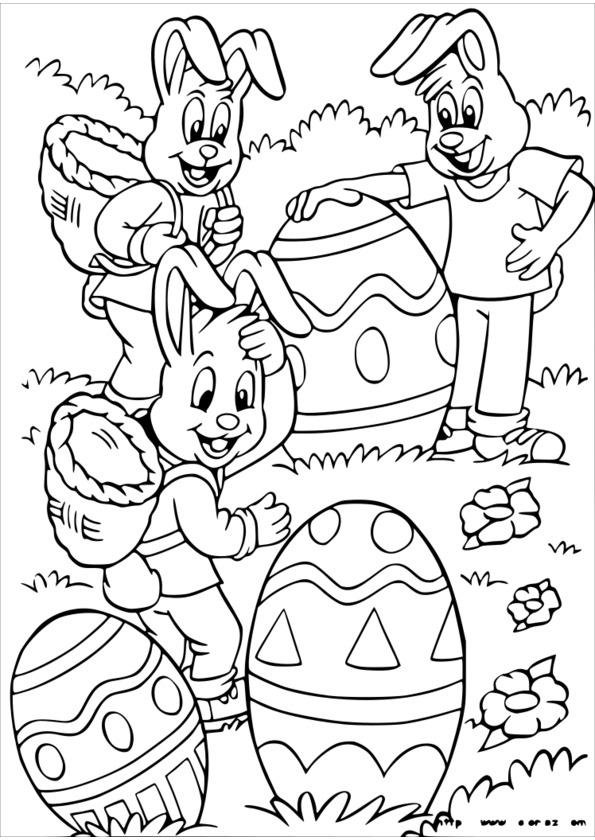mandala à colorier paques