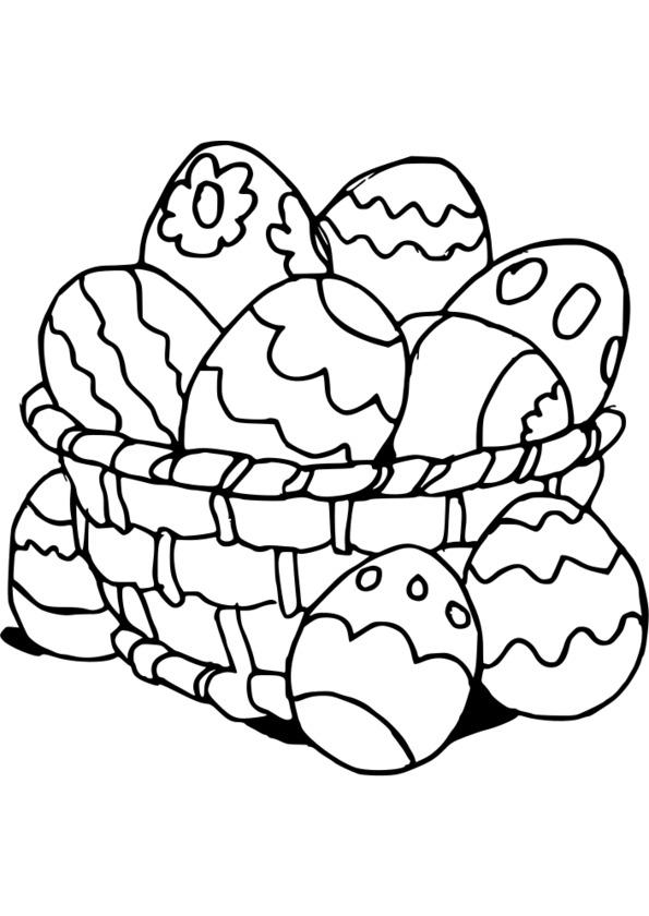 dessin à colorier joyeuses paques a imprimer