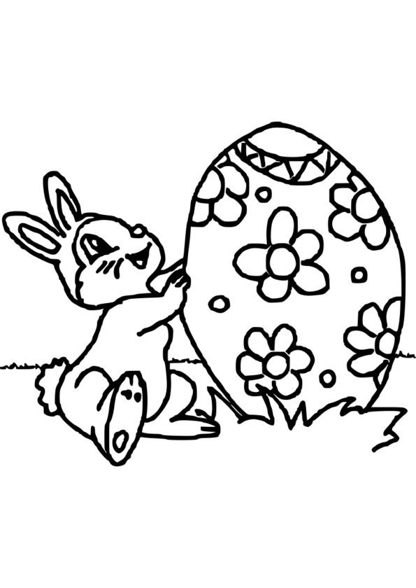 coloriage à dessiner de paques à colorier