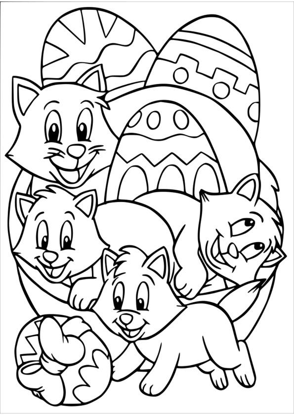 coloriage à dessiner paques a imprimer hugo