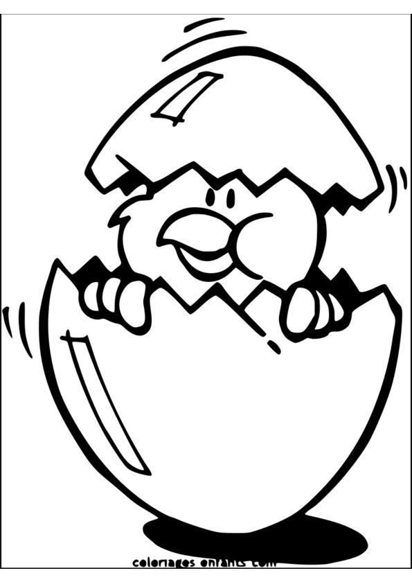 dessin à colorier adulte paques