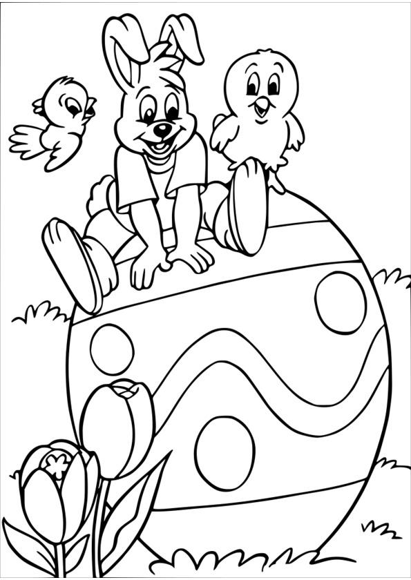 dessin paques à imprimer gratuit
