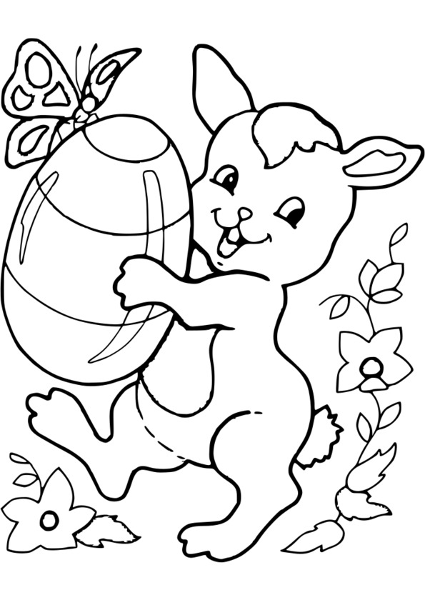 coloriage cod� paques maternelle