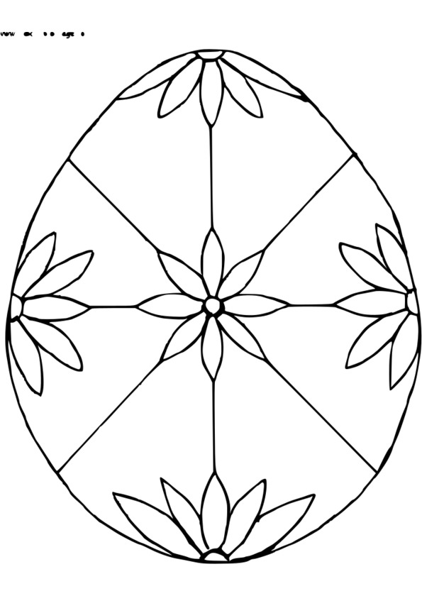 dessin à colorier paques tout petit