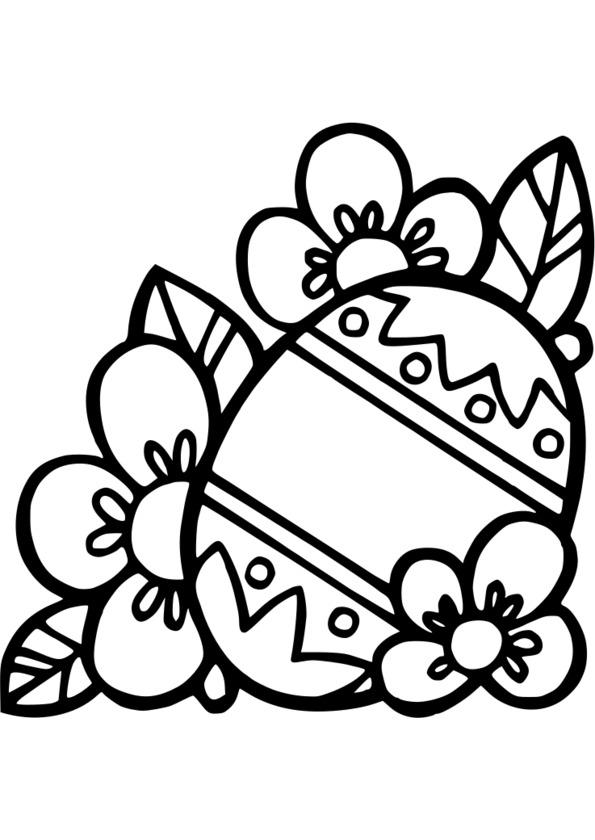 dessin d'oeuf de paques a imprimer