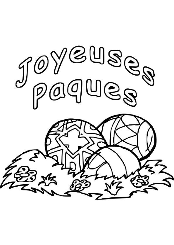 dessin à colorier paques gratuit