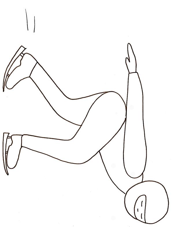 dessin patinage de vitesse