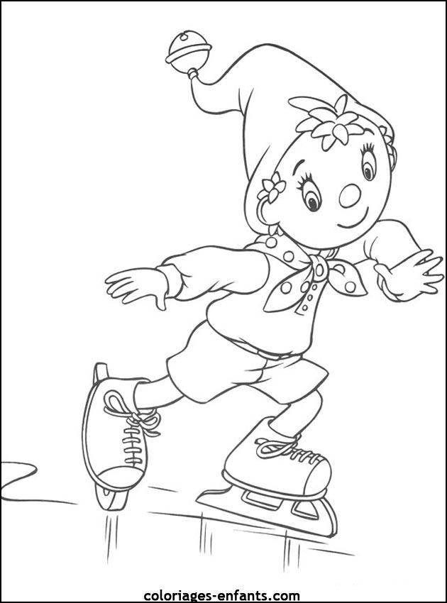coloriage de patinage artistique