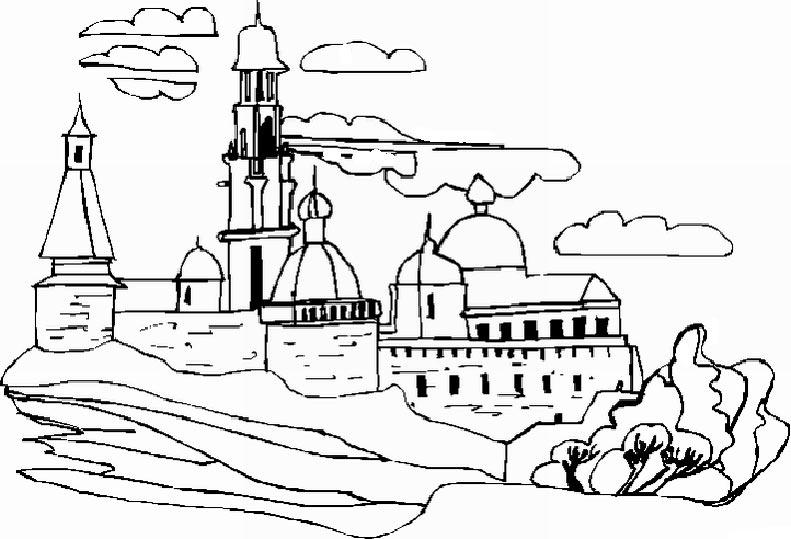 dessin paysage printanier