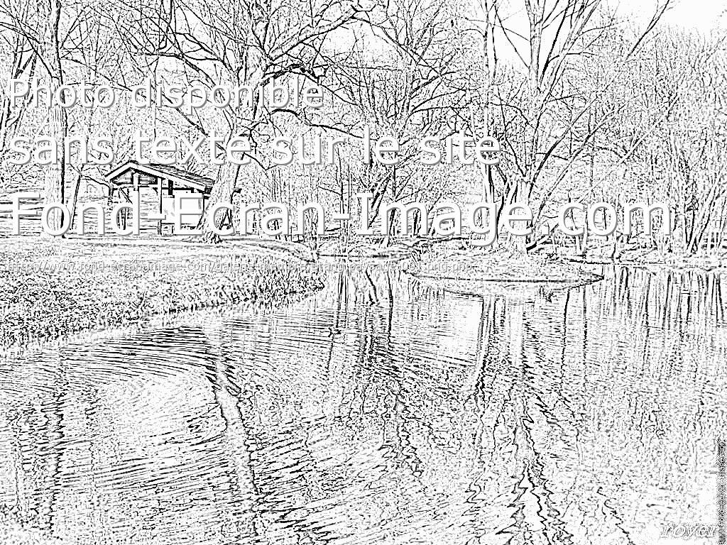 dessin à colorier paysage de noel gratuit a imprimer