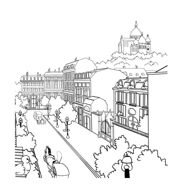 23 dessins de coloriage paysage imprimer - Paysage enneige dessin ...