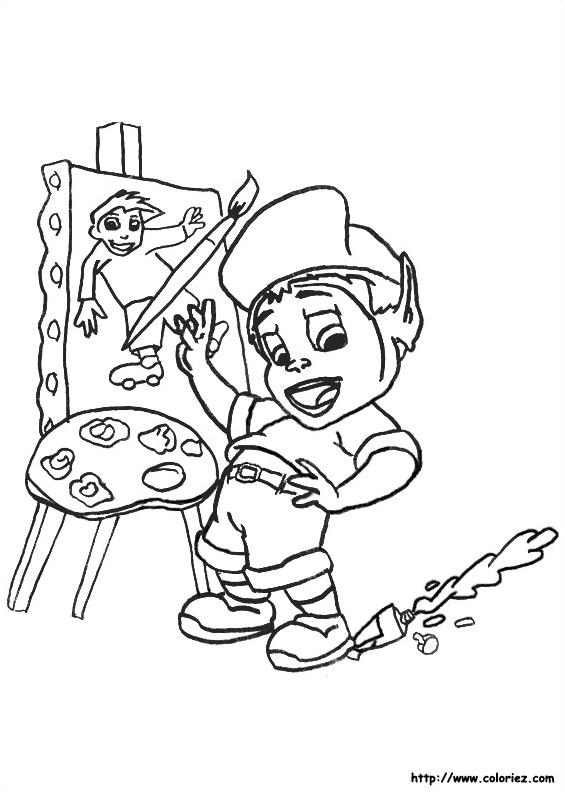 coloriage peintre miro