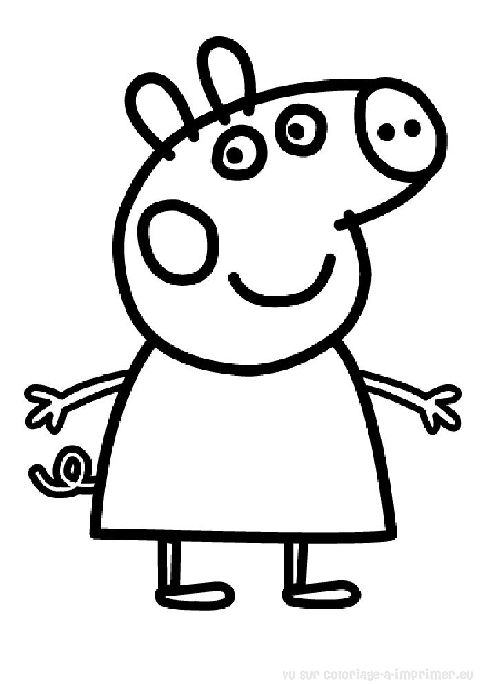 2 dessins de coloriage Peppa Pig à Imprimer à imprimer