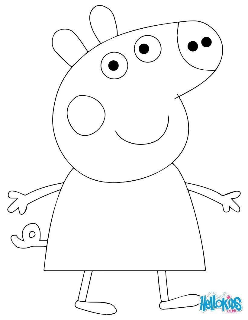 12 dessins de coloriage peppa pig en ligne imprimer - Coloriage en ligne princesses ...