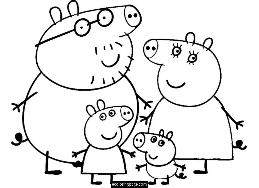 12 dessins de coloriage peppa pig en ligne imprimer - Coloriages en lignes ...