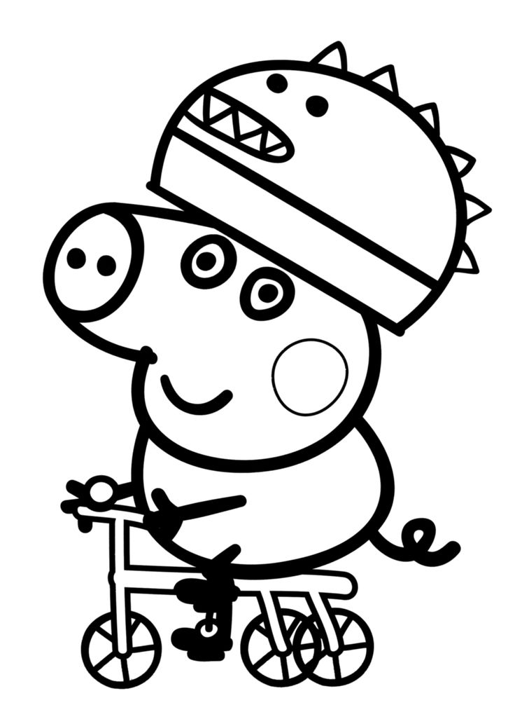 5 dessins de coloriage peppa pig george imprimer - Coloriages peppa pig ...