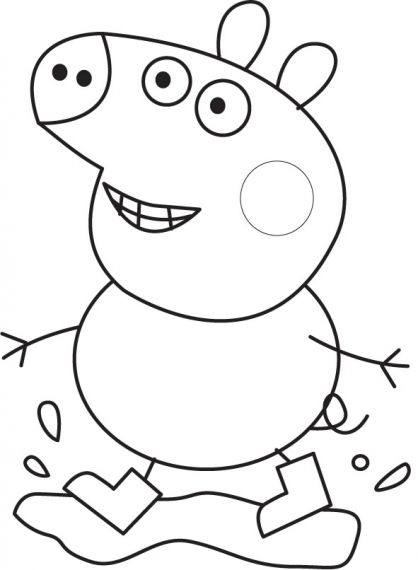 coloriage peppa pig voiture