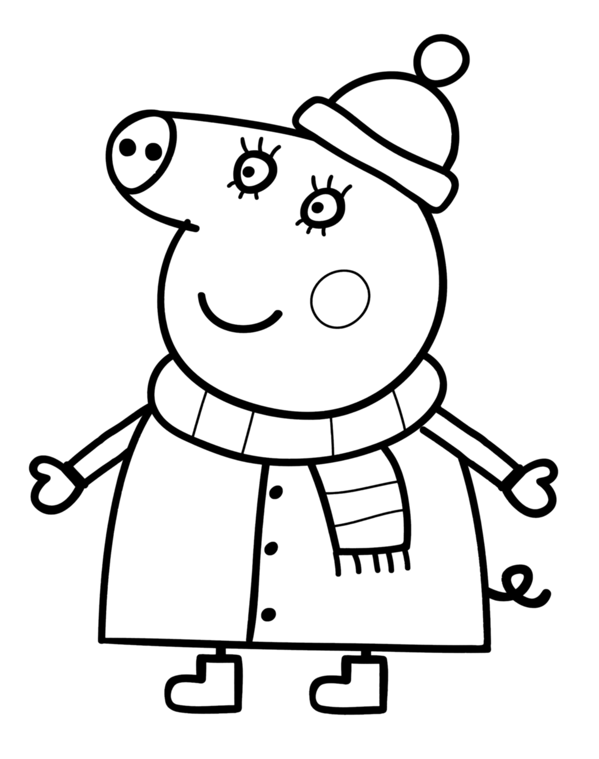 Coloriage imprimer peppa cochon - Coloriages peppa pig ...