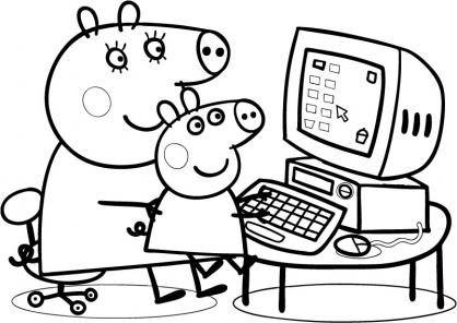 jeux dessin à colorier peppa cochon