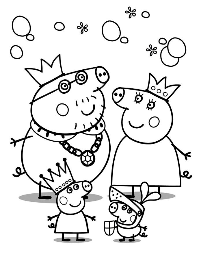 dessin a colorier peppa pig
