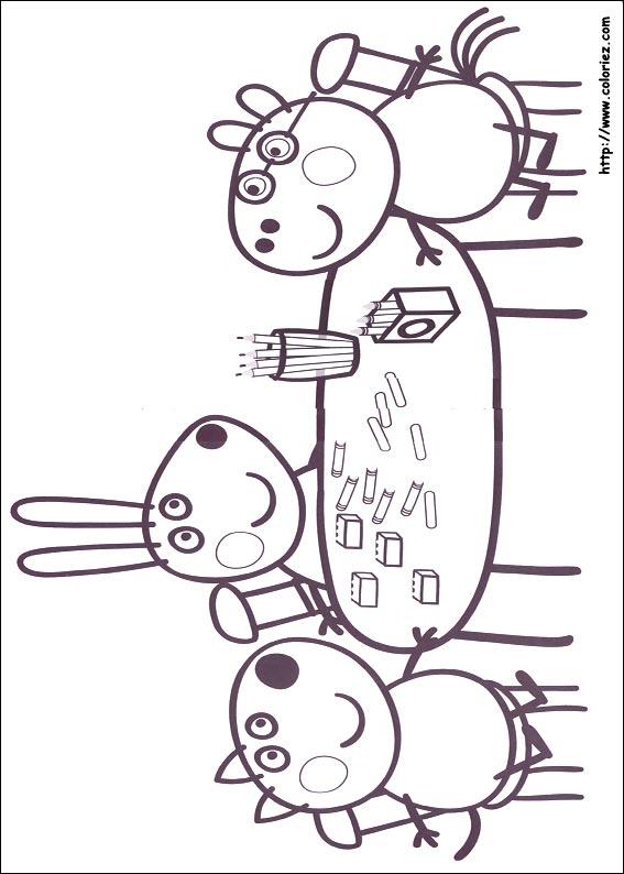 dessin peppa pig noel