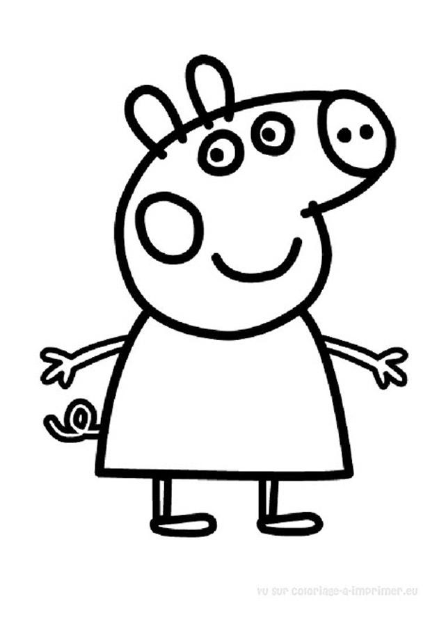 dessin à colorier de peppa pig