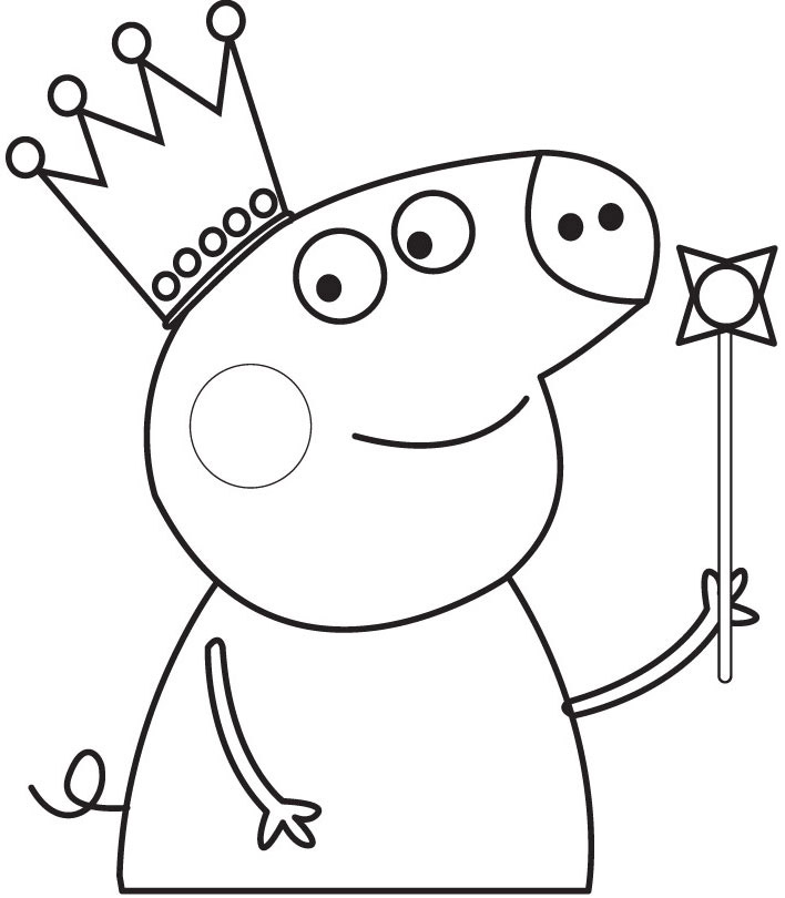 coloriage de peppa pig