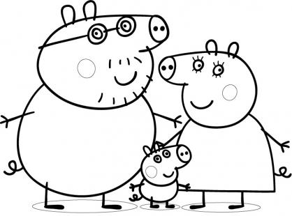 dessin à colorier peppa pig à imprimer