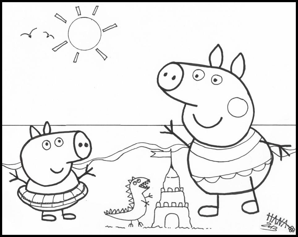 Coloriage imprimer peppa cochon - Dessin a imprimer cochon ...