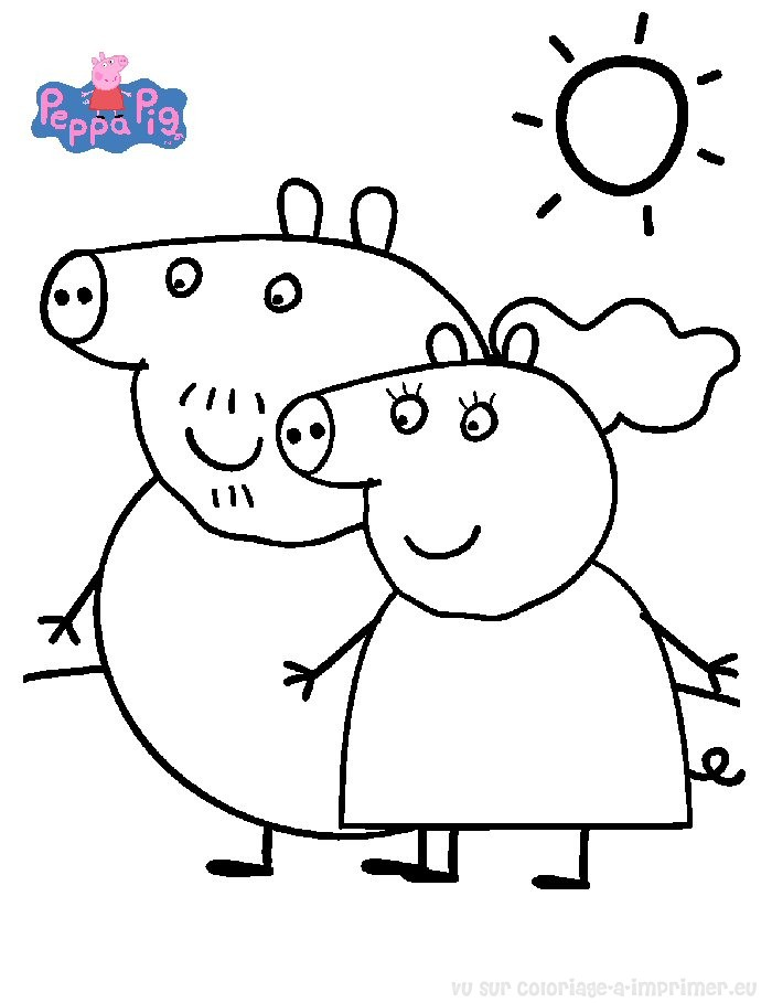 peppa pig jeux coloriage. Black Bedroom Furniture Sets. Home Design Ideas