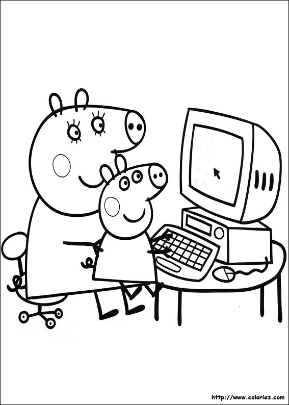 jeux coloriage peppa cochon
