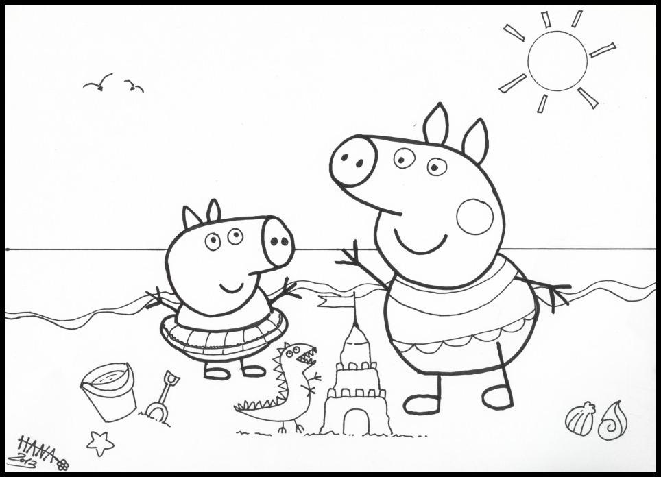dessin de peppa pig en ligne
