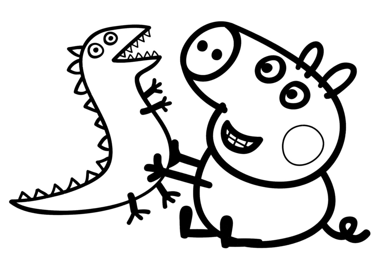 peppa pig dessin coloriage à dessiner