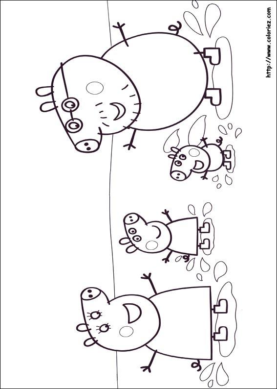 coloriage à imprimer peppa pig