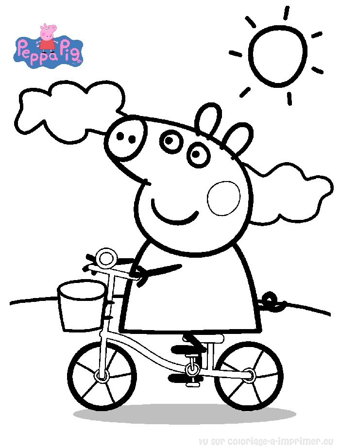 47 dessins de coloriage peppa pig imprimer. Black Bedroom Furniture Sets. Home Design Ideas