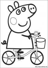 dessin à colorier peppa pig noel