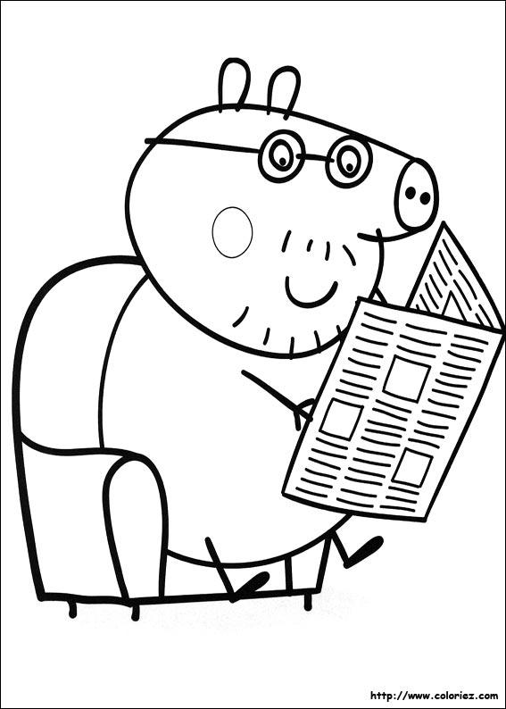 coloriage à dessiner peppa pig à imprimer