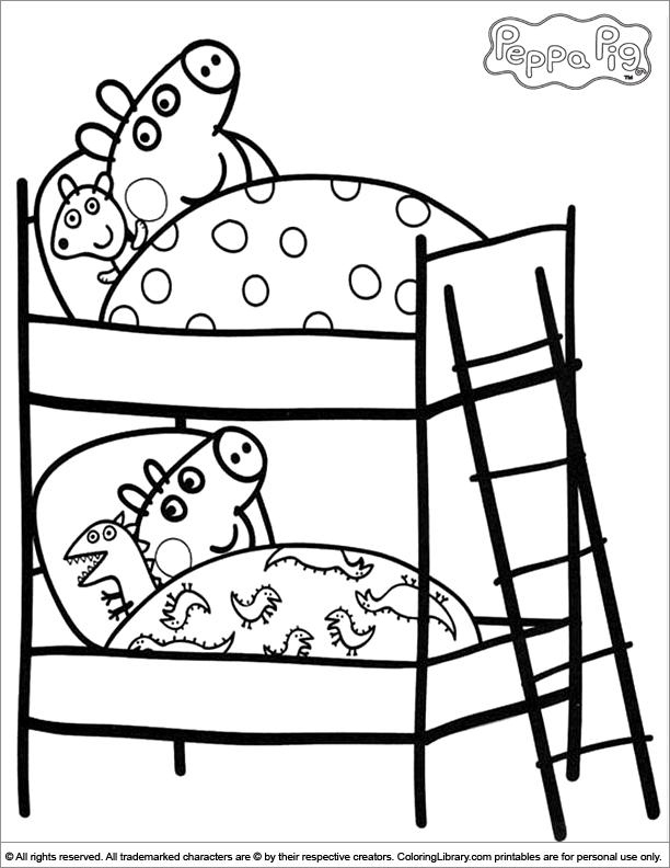 coloriage à dessiner à imprimer peppa pig
