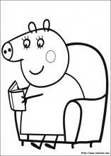 dessin à colorier peppa pig à imprimer gratuit