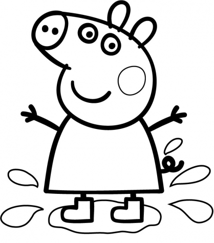 Peppa pig jeux coloriage for Peppa pig cake template free