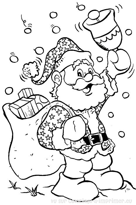 111 dessins de coloriage p re no l imprimer - Dessin pere noel ...