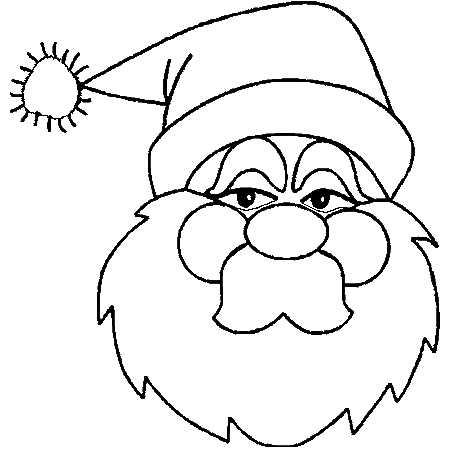 dessin pere noel avec rennes
