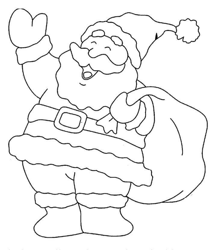 coloriage à dessiner mickey père noel imprimer